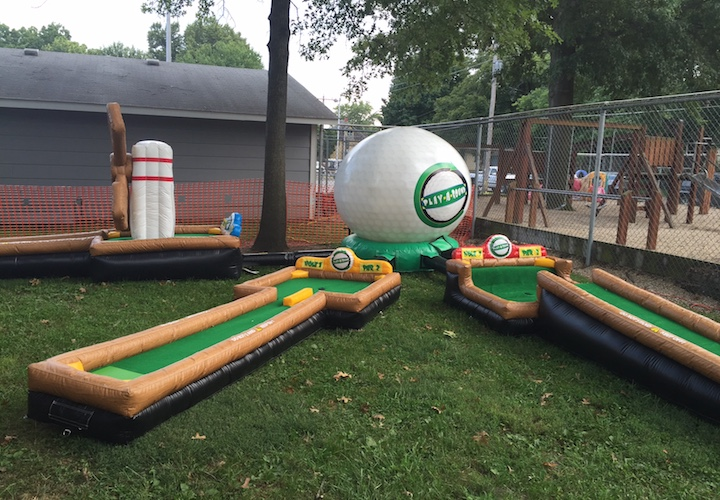 3 hole inflatable putt putt golf
