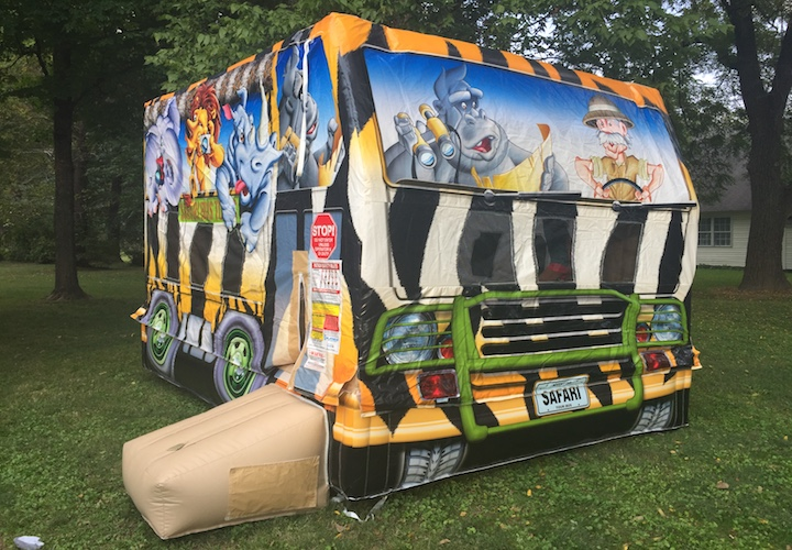 safari bus bounce house belleville il